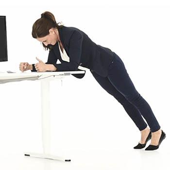 83.2 kleiner Unterarmstütz Schreibtisch