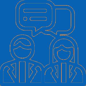 Icon Kommunikation kurz und knapp UKS