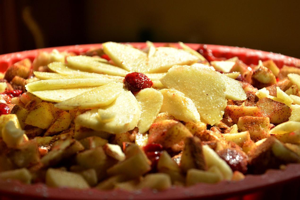 Apfel Erdbeerkuchen